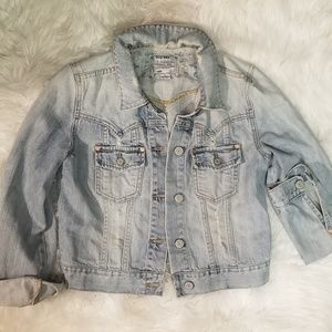 Sexy Fit Distressed Denim Jacket Old Navy